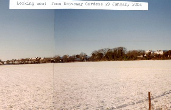 Droveway Gardens in the snow. 2004