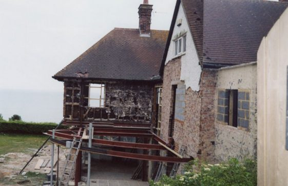 Corner Cottage East Granville Road, new features. June 2009