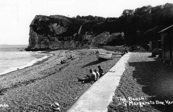 Ness Point from the beach. pre WW II