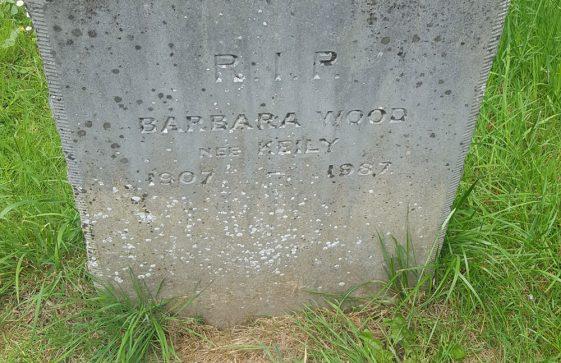 Gravestone of WOOD Barbara Kathleen Mary 1987