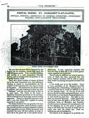 National Deposit Friendly Society opens the newly acquired Portal House. 1920