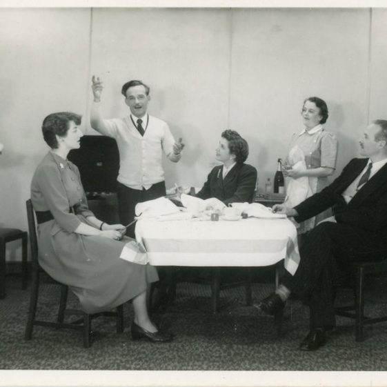 Cast of an unidentified St Margaret's Players murder mystery probably 1950's