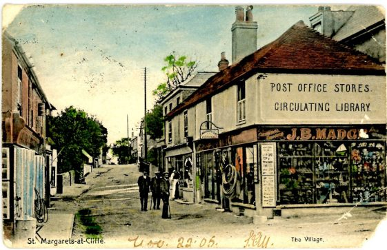 High Street and Madge's Stores. postmark 1905