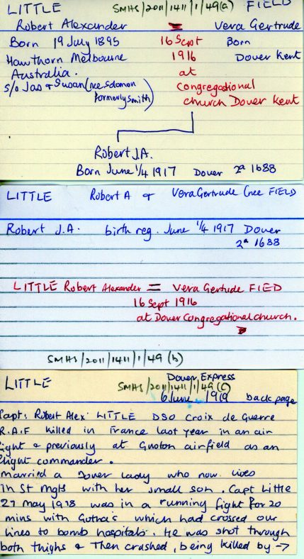 Family Geneology of Captain R A Little