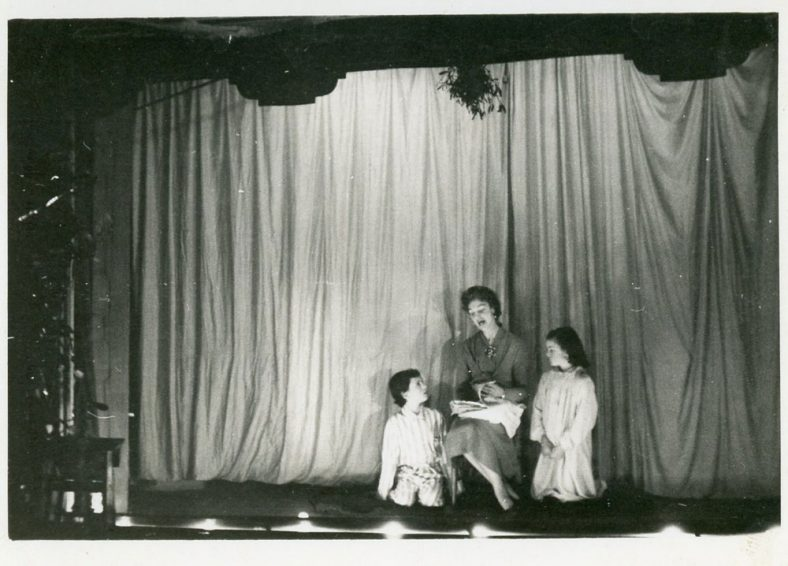 Scene from St Margaret's Players Pantomime 'Mother Goose'. 1956