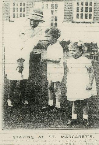 Prince Edward and Princess Alexandra at St Margaret's Bay.  28th July 1939