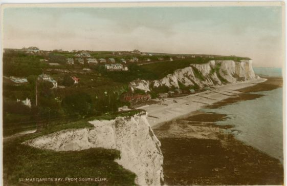 St Margaret's Bay from Ness Point. postmark 1937