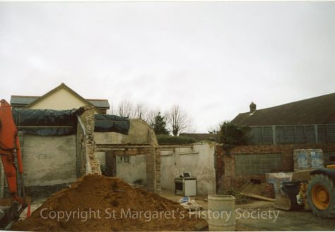 Site of the former Knoll Garage site, High Street.  April 2004.