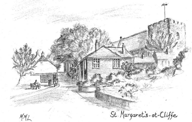 Drawing of the High Street from Bay Tree House by Molly Lodge