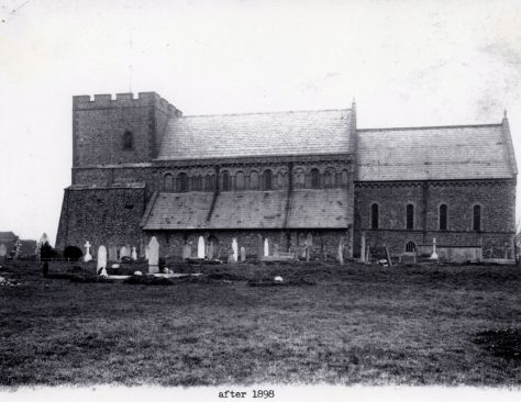 St Margaret's Church from the south.  Post 1898.