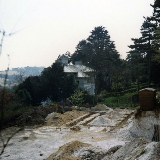 The house foundations at South Foreland House, Hotel Road. 1987
