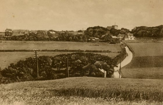 From top of Station Road towards St Margaret's. 1908