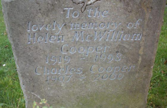 Gravestone of COOPER Helen McWilliam 1998; COOPER Charles 2000