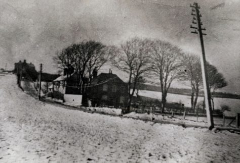 'Cliffe Place' and surrounding fields, Station Road in the snow