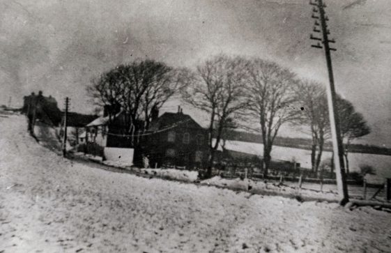 Cliffe Place, Station Road in the snow