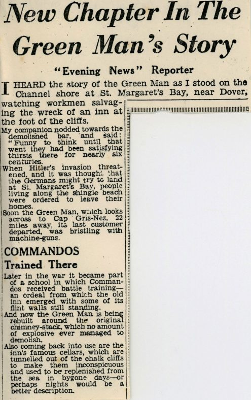 Rebuilding The Green Man. 21st January 1954