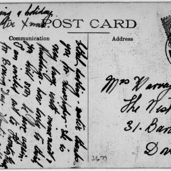 St Margaret's Bay from Ness Point. postmark 1911