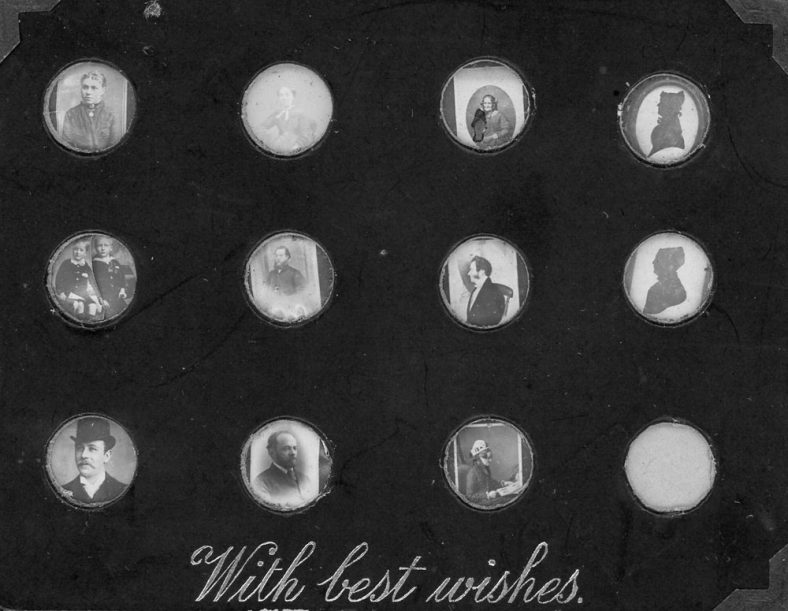 Collection of Victorian miniature photographs from the Madge Family Album
