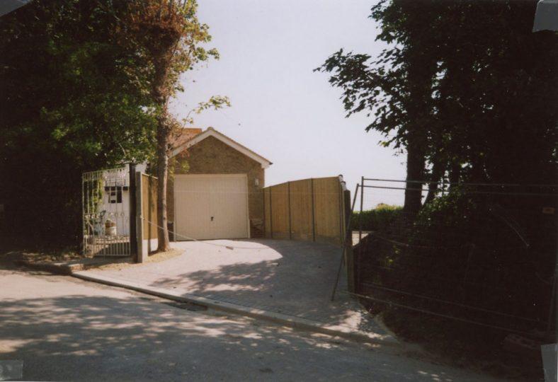 New Garage at 'Corner Cottage', Granville Road. July 2008