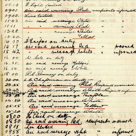 St Margaret's ARP (Air Raid Precautions) Log. Volume 3. 2 November 1940 - 17 February 1941. Pages 120-129