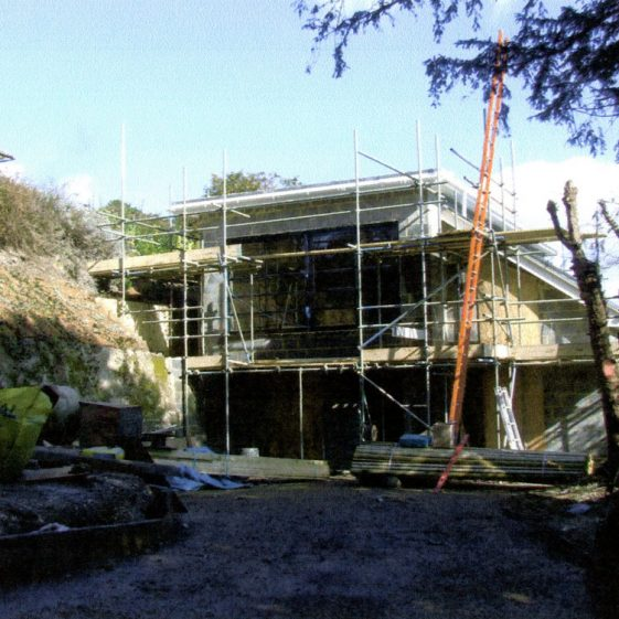 Building of 'The Pines' in the garden of 'The Moorings'  Salisbury Road. 2010