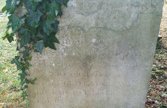 Gravestone of KENNEY James 1750; KENNEY Dorothy 1769; KENNEY John 1756