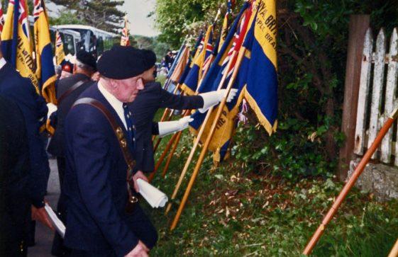 The British Legion Memorial Service at the Dover Patrol Memorial. 1990