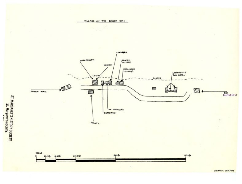 Sketch map of the Village on the Beach. c1894 | Nicol, K.E