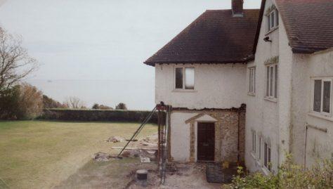 Corner Cottage East, Granville Road, building works. March 2009