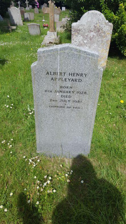Gravestone of APPLEYARD Albert Henry 1981 | Dawn Sedgwick
