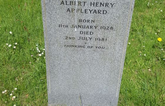 Gravestone of APPLEYARD Albert Henry 1981