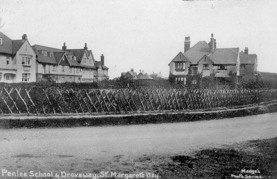 Penlee School, The Droveway.  postmark 1913