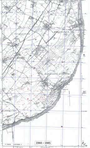 Bomb and shell sites in St Margaret's. 1944-45