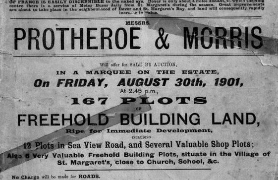 Advertisement for building plots for sale at Nelson Park by auctioneers Protheroe & Morris. 30 August 1901