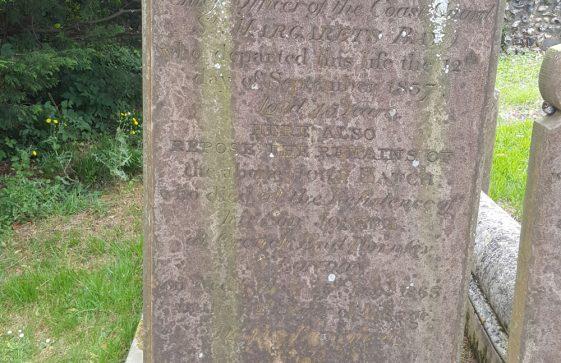 Gravestone of HATCH Ann 1837; HATCH John 1863