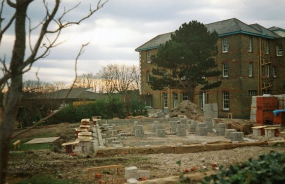 Construction of staff accommodation at Portal House School. 1988