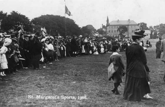 Spectators at St Margaret's Sports Day. 1908