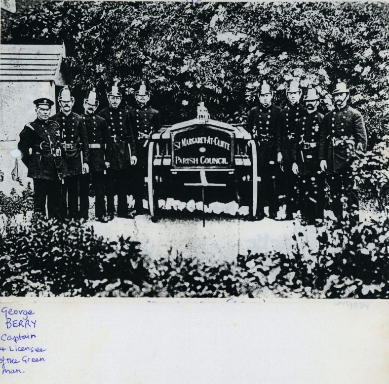 St Margaret's fire engine and crew. 1910 & 1911