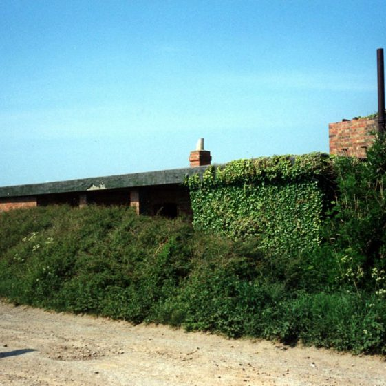 Gun sites of Clem and Jane at Wanstone Farm. 20 May 1990
