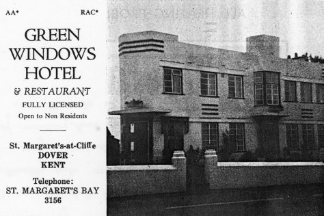 Advertisement The Green Windows Hotel, Sea Street. 1973