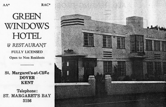 An advertisement from the 'Dover Guide 1973' for The Green Windows Hotel, Sea Street..