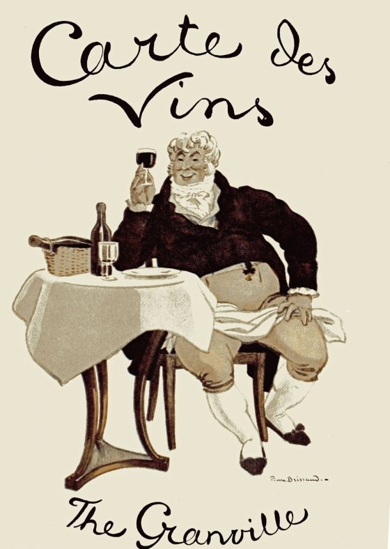 Granville Hotel, Hotel Road: Wine List Cover. Undated