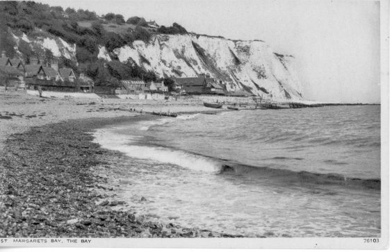 East Cliff from the beach. c1922