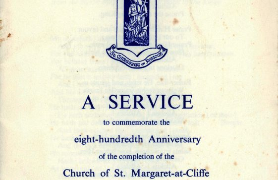Order of Service to commemorate the 800th Anniversary of the completion of the village church. 20 July 1960