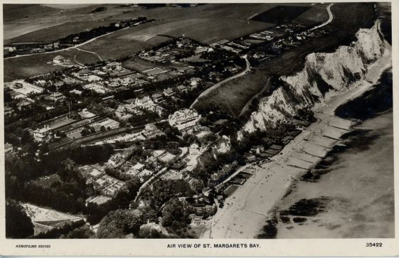 Aerial view of St Margaret's Bay. 1931-1936