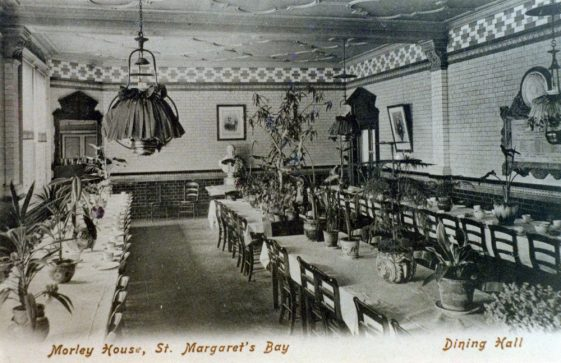 Dining room at Morley House. pre 1909