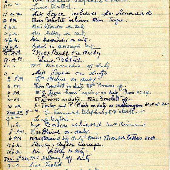 St Margaret's ARP (Air Raid Precautions) Log. Volume 1. 1 September 1939 - 24 July 1940. Pages 41-50