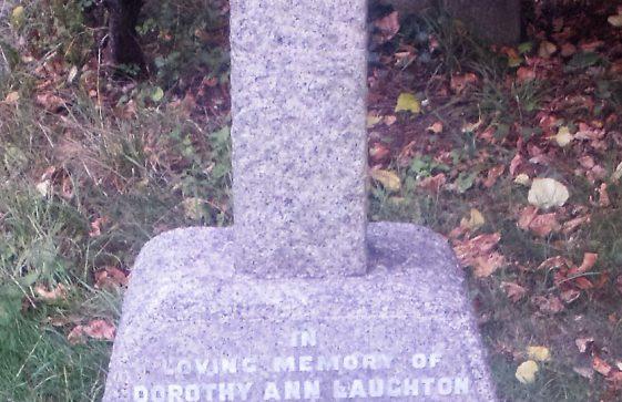 Gravestone of LAUGHTON Dorothy Ann 1954; LAUGHTON Leonard George Carr 1955; LAUGHTON Mary Louisa 1964