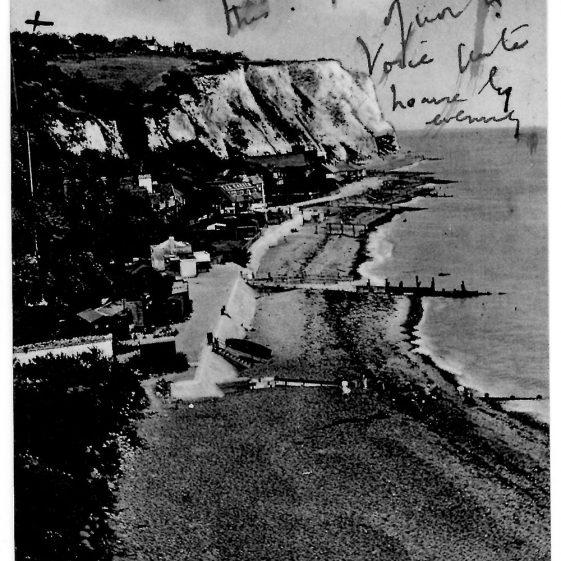 St Margaret's Bay from Ness Point. postmark 1933
