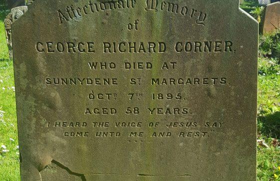 Gravestone of CORNER George Richard 1895